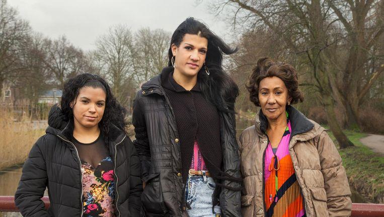 Ana Celia Casamayor, Giselle Jerez en Maria Teresa Arrietaweten één ding zeker: terug naar Cuba gaan ze niet. Beeld Pauline Niks