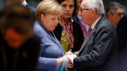 """Juncker: """"De geschiedenis zal Merkel gelijk geven"""""""