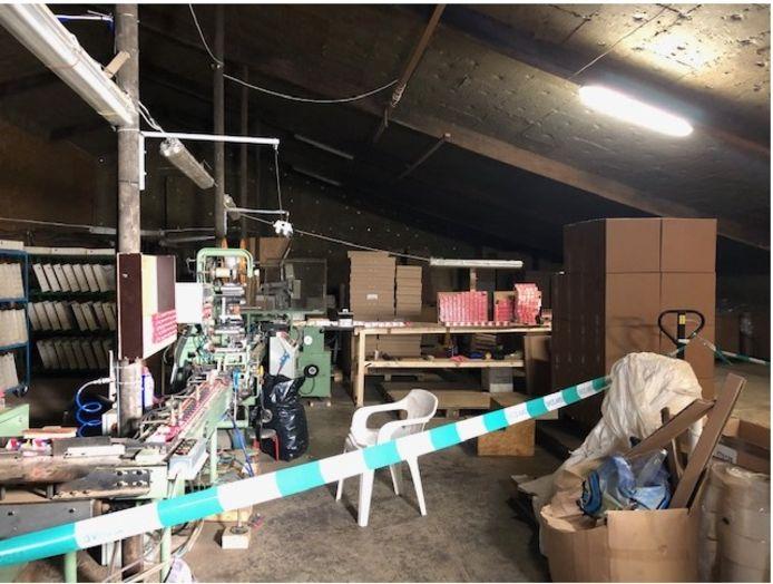 De illegale sigarettenfabriek in West Betuwe.