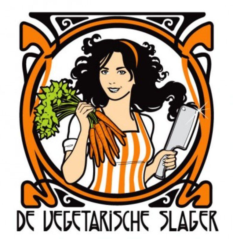 Het logo van de Vegetarische Slager Beeld xx