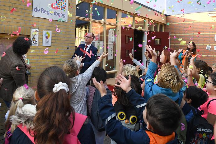 Basisschool De Regenboog in Cuijk heeft een Leonardoklas voor hoogbegaafde leerlingen uit de regio.