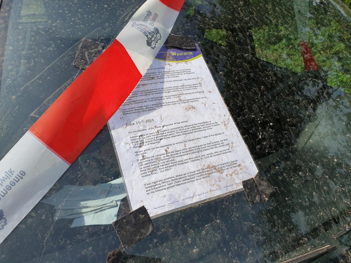 De gemeente Waalwijk heeft een brief achtergelaten.