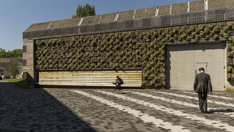 De te slopen betonnen bunker in Science Park, die radioactief is besmet. Beeld Marc Driessen / www.marcdrieesen.nl