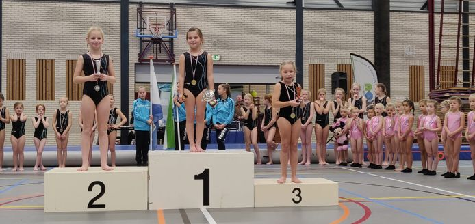 De kampioenen van de gymafdelling van Fysion Nijverdal.