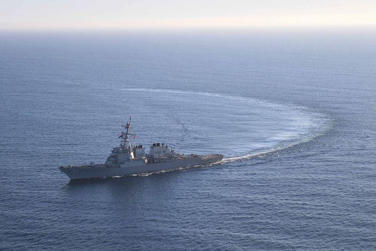Amerikaanse torpedobootjager USS Donald Cook. Beeld REUTERS