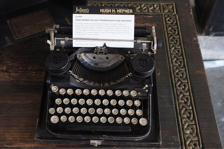 De vintage Underwood typemachine.