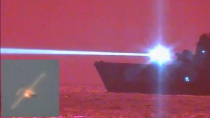 Amerikaanse marine haalt dronevliegtuig neer met enorme laser