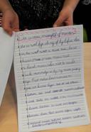 De brief die groep 5/6 van Kindcentrum de Ontdekking in Den Bosch opstelde in de zoektocht naar een nieuwe juf of meester.