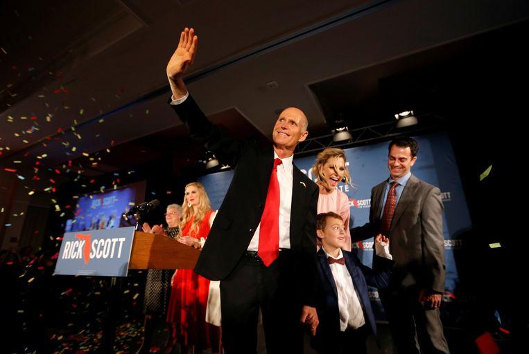In Florida is het al urenlang bijzonder spannend: kan huidig gouverneur Rick Scott er een cruciale senaatszetel afsnoepen van de Democraten?