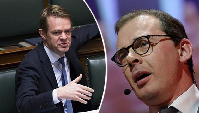 Kamerlid Hendrik Bogaert en CD&V-voorzitter Wouter Beke.