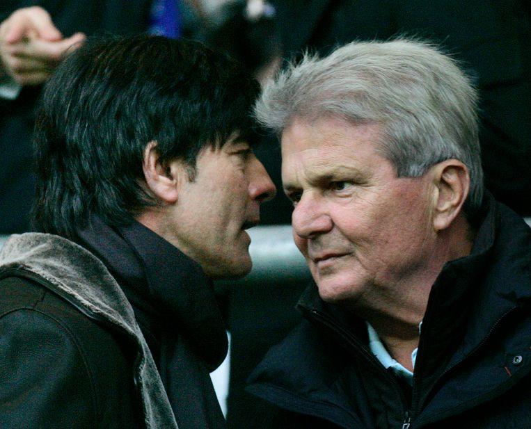 Dietmar Hopp in het gezelschap van de Duitse bondscoach Joachim Löw.