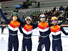 Shorttrackers winnen wereldbeker aflossing