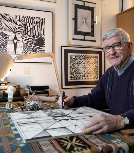 Tekenaar Huub (87) trekt lijntjes zonder na te denken