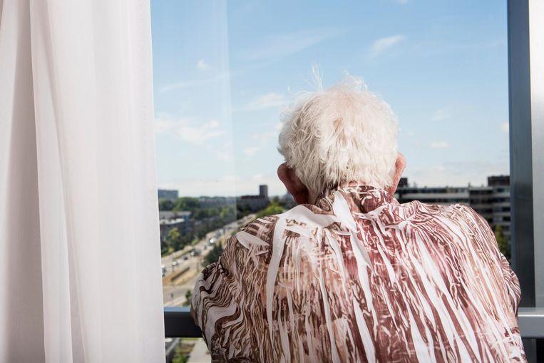 George Meij: 'Lopen kan ik niet goed meer, ik kom nog maar weinig buiten' Beeld Niels Blekemolen