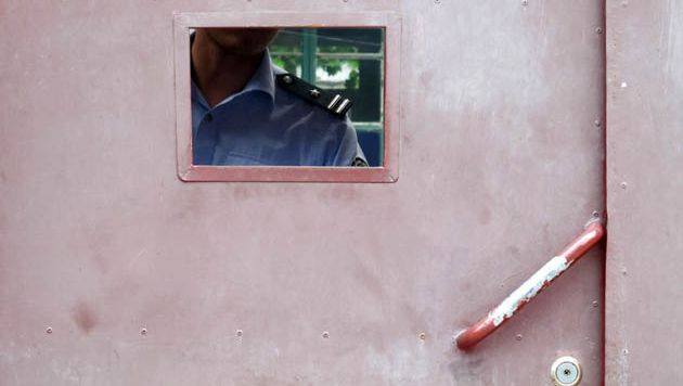 Une prison en Chine. Illustration.