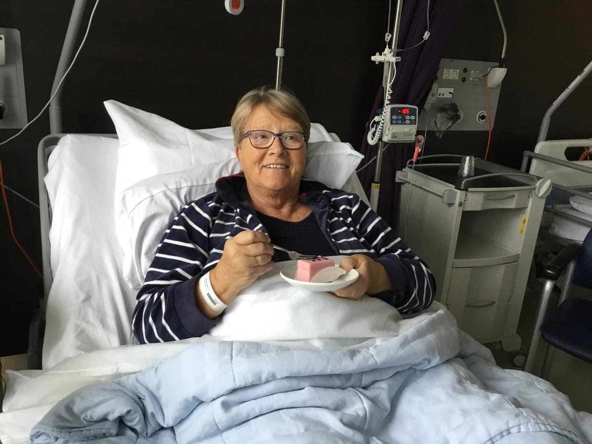 Arine Burbachs' mangomomentje: het gebakje dat ze kreeg na haar heupoperatie.