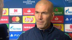 """Dit was de eerste dag van Real op Belgische bodem, Zinédine Zidane: """"Of Courtois speelt? Dat zie je morgen"""""""