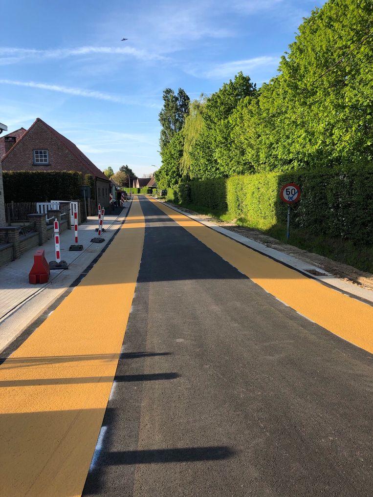 De vernieuwde Zomergemstraat.