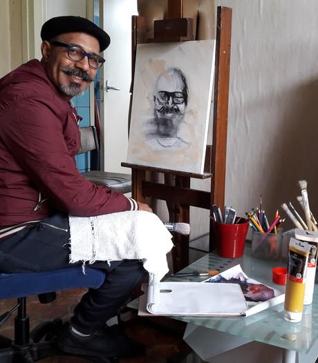 Syrische kunstenaar Moussa Ramou houdt open huis in atelier Heesch