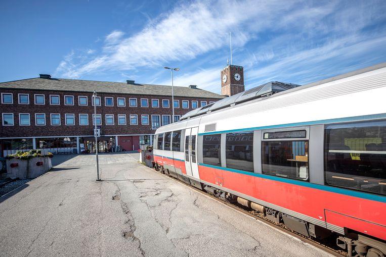 Het treinstation van Bodø.
