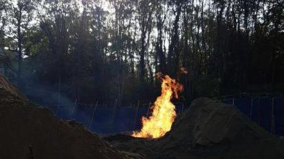 Uitslaande vlammen bij gaslek op werf in Ukkel