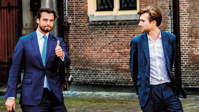 Thierry Baudet (links) en Freek Jansen.