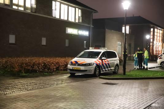 Politie kort na de overval op de supermarkt in Culemborg.