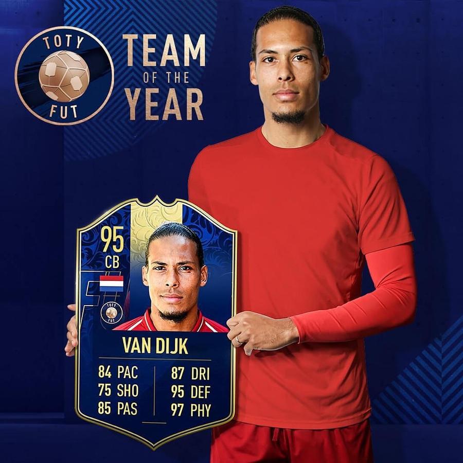 Virgil van Dijk behoort tot de beste spelers van de voetbalgame FIFA19.
