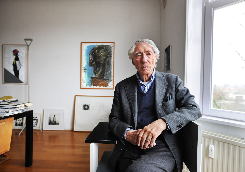 Grafisch ontwerper Wim Crouwel in 2011.