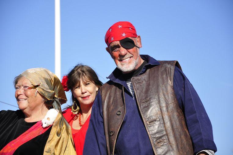 Piraten op Pampus Beeld -