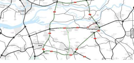 Op- en afritten volgend weekend dicht om werk aan A59 tussen Vlijmen en Empel