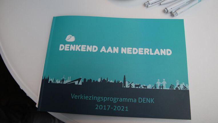 De presentatie van het verkiezingsprogramma van DENK. Beeld anp