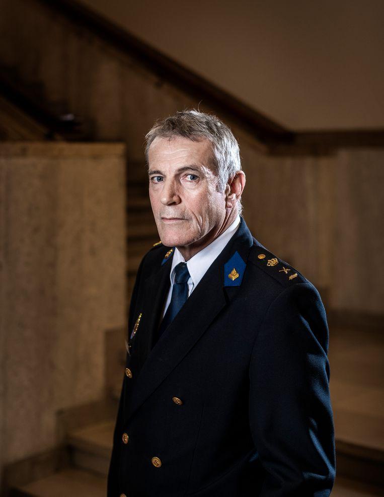Leon Kuijs, scheidend directeur van de Politieacademie: ' In de wet is geregeld dat wij de kwaliteit bewaken. Voor mij is dat heilig.'  Beeld Jiri Büller / de Volkskrant