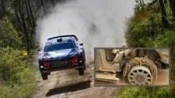 """WK-titeldroom over voor Thierry Neuville na desastreuze landing in rally van Australië: """"Band ging van de velg"""""""