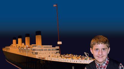 Jongetje met autisme bouwt grootste Titanic-replica van Lego ter wereld