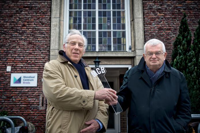 Wilbert Willems (l) nam eerder dit jaar het voorzitterschap van het Mondiaal Centrum Breda over van ex-pastor Jan Hopman.