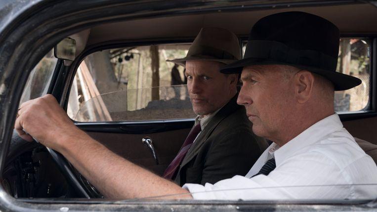 Woody Harrelson en Kevin Costner in The Highwaymen van John Lee Hancock. Beeld