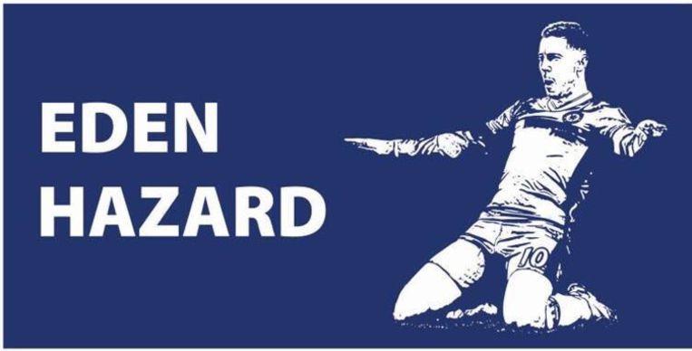 De banner die de fans voorzien voor Hazard.