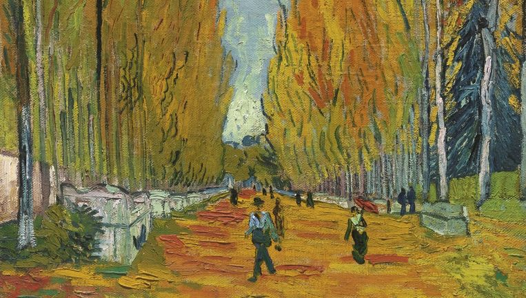 L'Allée des Alyscamps (1888) van Vincent van Gogh (1853-1890). Beeld Sotheby's