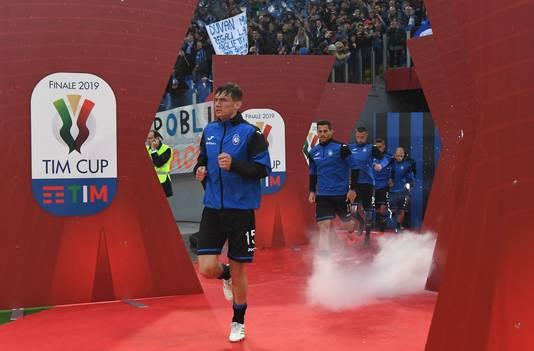 Marten de Roon voor de bekerfinale in Stadio Olimpico in Rome.