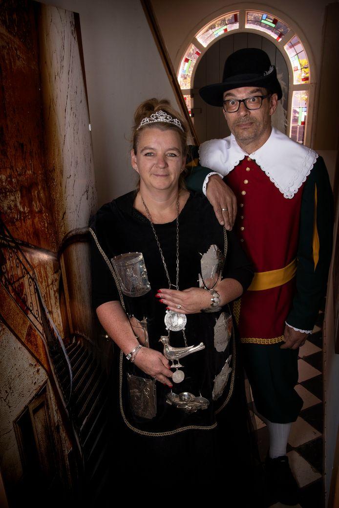 Arianne Dijkema, de eerste vrouwelijke koning van het Sint Nicolaasgilde.