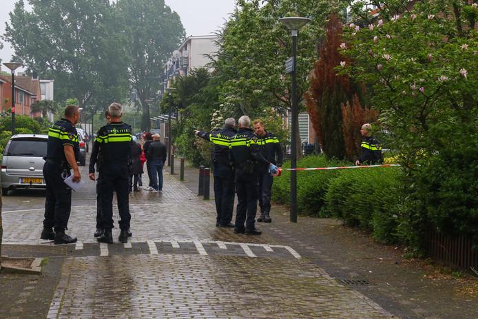 De politie rukte begin mei uit voor een steekpartij in Vlaardingen.