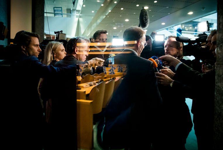 18 december 2019, toenmalig staatssecretaris Menno Snel van Financiën treedt af vanwege de kinderopvangtoeslagaffaire. Beeld null