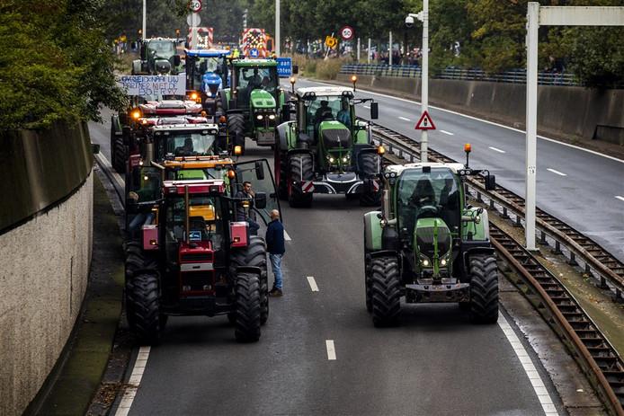 Het boerenprotest.