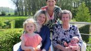 Yvonna Van Snick is overgrootmoeder in dubbel viergeslacht