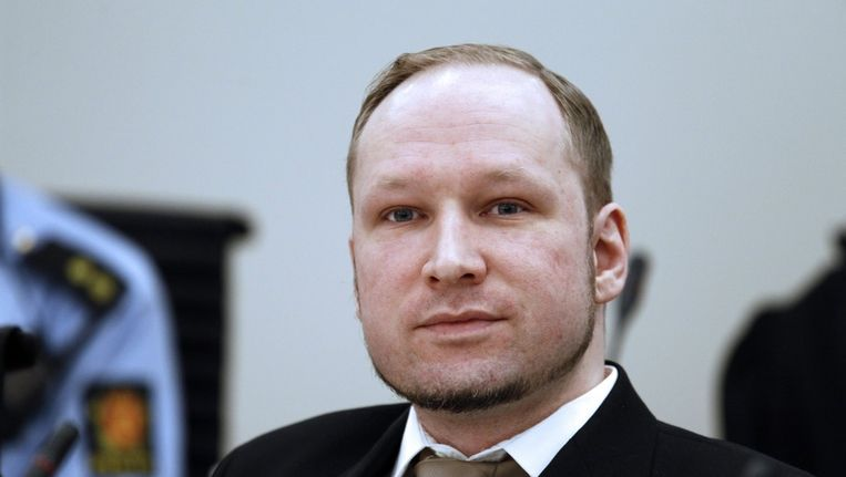 Anders Breivik vandaag in de rechtbank. Beeld epa