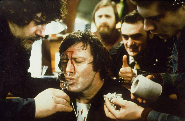 Jon Bluming in de film Zwaarmoedige verhalen voor bij de centrale verwarming (1975) Beeld ANP Kippa