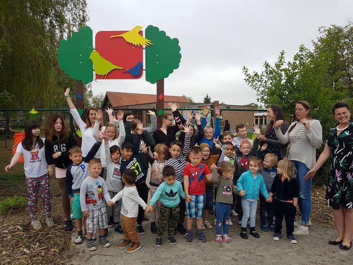 De 29 leerlingen en 3 leerkrachten van De Vinkjes anno 2018.