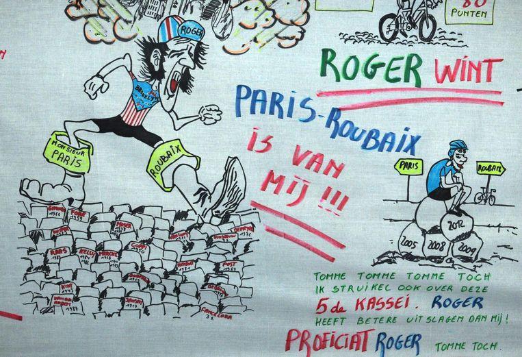 Karikatuur van Joël Verhee, voor deze gelegenheid gemaakt.