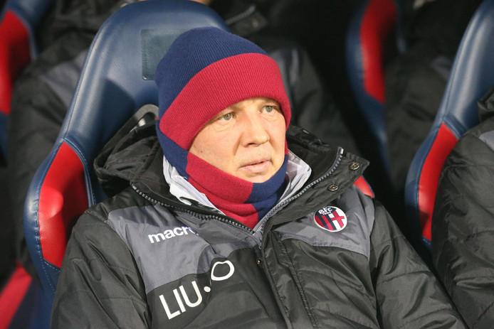 Sinisa Mihajlovic zat weer op de bank bij Bologna.